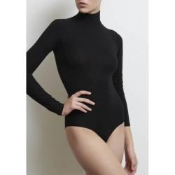 Long Sleeved Polo Neck Bodysuit