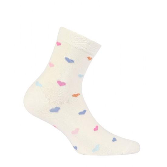 Women's Cotton Socks With Hearts Pattern Wola