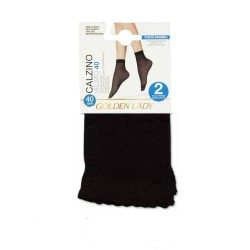Ankle Highs 40den Set Of 2 Pairs Golden Lady