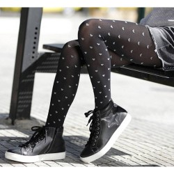 Girls' Tights With Hearts Pattern Ider