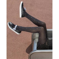 Girls' Tights With Bronze Stars Ider