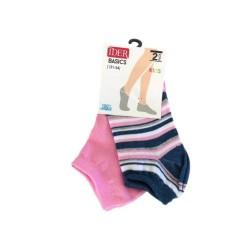 Kids' Cotton Shoe Line Socks Set Of Two Pairs Ider
