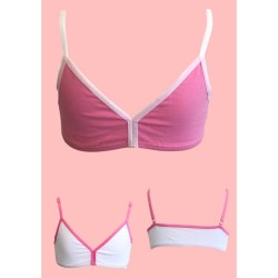 Girls' Cotton Triangle Bustier Set Of 2 Pieces Ider