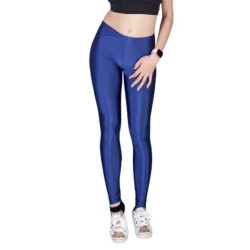 Woman's  Opaque Shiny Leggings Ider