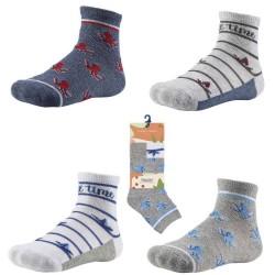 Kids' Ankle Patterned Socks Set Of 2 Pairs Ysabel Mora