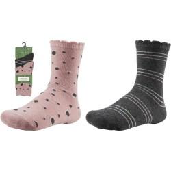 Kids' Cotton Socks Set Of Two Pairs Ysabel Mora