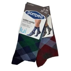 Men's Cotton Design Socks  Pompea